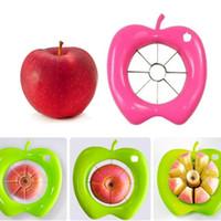 مريحة التفاح الفاكهة القاطع التكعيب مقشرة أخذ العينات الجوفية القطاعة آلة المطبخ أداة Plastiic مختلطة مع الفولاذ المقاوم للصدأ الفواكه القاطع