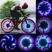 Прохладный 2 сторона 32 LED 32 режим ночной водонепроницаемый колеса сигнальная лампа светоотражающий обод Радуга шины велосипеды велосипедов фиксированной говорил предупредить свет