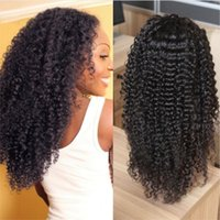 Kinky Curly Lace Front Wigs Unprocessed Brazilian Human Hair...