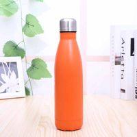 350 ml Transhome Wasserflasche Neue Mode Candy Farbe Edelstahl Thermos Für Outdoor Sports Isolierflaschen