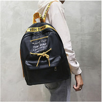 New Fashion Letter Casual Oxford Backpack Students School Ba...