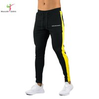 2018new Quality Jogger Pants Men Fitness Bodybuilding Gyms P...