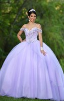 New Design Ball Gown Quinceanera Dresses Spaghetti Cap Sleeve Beading Crystal Princess Prom Party Dresses For Sweet 16 Girls
