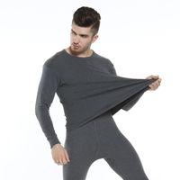 Hiver Chaud Sous-vêtements en coton O-cou Long Johns Coton confortable peigné Casual col rond Sous-chemises Vêtements de nuit