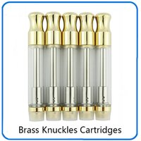 Brass Knuckles Golden 510 glass vape cartridge 0. 5ml 1. 0ml w...