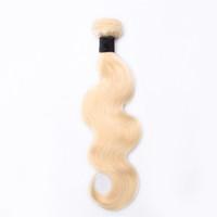 Класс 10a бразильский Индийский малайзийский человеческих волос 1 шт. только 613 блондинка волна тела человеческих волос плетение пучок Бесплатная доставка