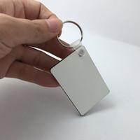 МДФ пустой брелок прямоугольник сублимации деревянный брелок для передачи тепла пресс фото логотип термопечать подарок-свободный корабль