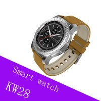 KW28 smart watch Sport Bluetooth Soporte SIM TF Card smartwatch Monitor LCD LCD Touch Screen Universal para teléfonos IOS Android