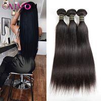 Onlyou Hair® 10A Grade Heart Head Hair Teins Bundles Péruvien Péruvien Indien de Malaisie Virginie Vierge Remy Extensions de cheveux Vendeurs Grossistes