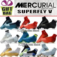 Mens High Ankle CR7 Soccer Cleats Mercurial Superfly FG AG N...
