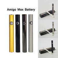 Max Vapes Kalem Pil Vape Kartuşları 510 Konu Ön ısıtma Batterys 380mAh Değişken Voltaj Alt Şarj Buharlaştırıcı Kalemler Kartuş 4 Renkler 100% Orijinal