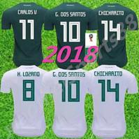 2018 Copa do Mundo México México Jersey Jersey Away 17 18 Verde Chicharito Camisetas de Futbol Hernandez G Dos Santos Futebol Camisas