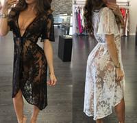 Frauen Spitze Kleider Perspektive Sommer Bad Strand Meer Tragen Sexy Badebekleidung Aushöhlen Party Kleid