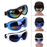 높은 품질 Sand-proof 야외 스포츠 등산 단일 레이어 스키 고글 눈 보호 어린이 십 대 스키 아이웨어
