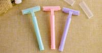 Ручка бритвы Лезвия Руководство для бритья Женщины Руководство Бритвы лезвия для бритья безопасности волос Lady Razor Head
