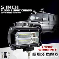 5 tum 72W CREE Chips LED Work Light Bar Offroad Flood Beam LED-bil Arbetsljus Lastbil SUV ATV 4x4 4WD 12V 24V LED körlampa