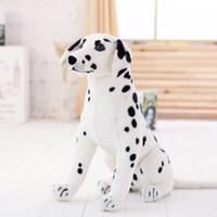 Neue 35 '' / 90cm große angefüllte weiche Plüsch-simulierte Tierdalmatiner-Hundespielzeug-großes Kindergeschenk geben Verschiffen frei