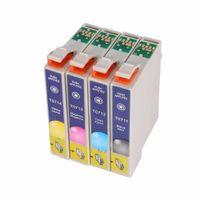Freeshipping 정품 T0715 멀티 팩 잉크 카트리지에 대한 엡손 T0711 T0712 T0713 T0714 4 색 사용하기 쉬운 방수