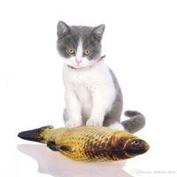 20 см Размер Искусственной Рыбы Плюшевые Pet Cat Puppy Dog Toys Спящая Игрушка Кошка Мята Кошачья Мята Игрушки Симпатичные Аквариум Украшение Аквариума 7 Стилей
