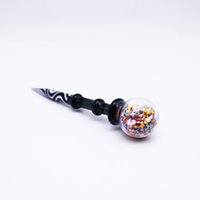 4. 9 inch glass dabber carb cap and ball style water pipes da...