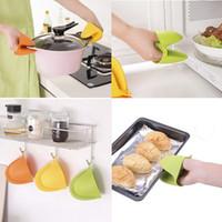 المطبخ سيليكون مقاومة للحرارة قفازات كليب العزل غير عصا مكافحة زلة وعاء حامل كليب الطبخ الخبز فرن أدوات المطبخ