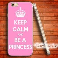 f7270191d31 Funda Coque Keep Calm Princess Clear TPU para iPhone X 8 6 6S 7 Plus 5S