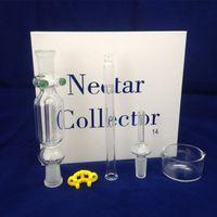 Nektar-Kollektor-Set mit domeless Quarz-Nagel-Titan Nagel 10mm 14mm 18mm nector Sammler Kit Bohrinseln mini Glasrohre Wasserrohre