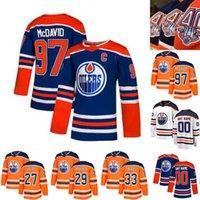 Kapitän C Flecken 97 Connor McDavid Jersey 40 Jahre Edmonton Oilers 4 Taylor Hall 44 Zack Kassian 33 Cam Talbot 29 Leon Draisaitl