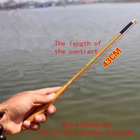 Ultrashort mini portable1.8-6.3M Stream caña de pescar de fibra de carbono caña de pescar telescópica caña de pescar ultraligera caña de pescar