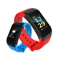 Colorful Touch Screen Wristband Heart Rate Blood Pressure Sl...