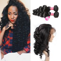 360 Loose Wave lace frontal closure with 2 bundles Virgin Hu...
