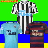 TOPO Tailândia 18 19 newcastle united soccer jersey football shirt camisa de futebol 2018 2019 RONDON camisa de futebol kit RITCHIE SHELVEY Newcastle kits Camiseta uniformes