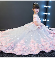Lovely Pink Silver Tulle Jewel Applique Flower Girl Dresses ...