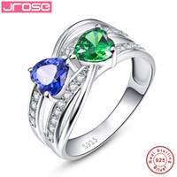 wholesale Hot jrose 925 sterling silver rings, Luxury blue an...