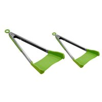 Clever Spatula Tong 2- in- 1 Kitchen Spatula Tongs Non- stick H...