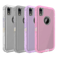 For Iphone Xs Max Case Soft TPU Bumper Clear Hybrid Back Cov...