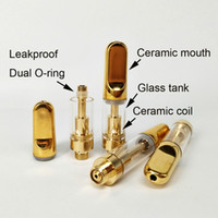0. 5ml 1ml 510 Gold color vape pen ceramic Coil glass cartrid...