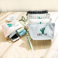 Viagem Cosmetic Bag Maquiagem Caso Mulheres Zipper Mão Segurando Make Up Handbag pêssego coração pacote de mulheres cachecol saco de cosmética