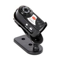 Q7 Mini Kamera Wifi Kızılötesi Gece Görüş Küçük Kamera DV DVR Kablosuz IP Kamera Video Kamera Kaydedici Destek TF Kart 1 adet / grup