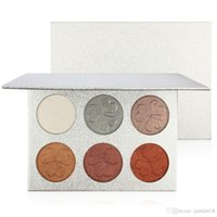 No Label Makeup 6 colori Shimmer highlighter powder Face Pressed powde Cosmeticr 6 colori Contour palette Face Highlighter Makeup correttore