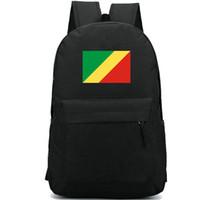 Конго флаг рюкзак Горячая страна день пакет Прекрасный баннер мешок школы Повседневный рюкзак Хороший рюкзак Sport Schoolbag Открытый рюкзака