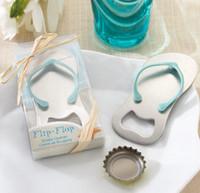 Flip Flop Bottle Openers Wedding Party Favor Gift Beach Thong Tofflor Ölflaska Öppet hushåll
