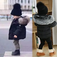 baby clothing for boy fake fur collar kids winter jacket chr...