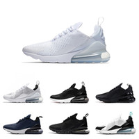 270 Men Running Shoes Bruce Lee Triple White Black Womens Sn...
