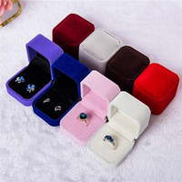 Mode Verlobungsringkasten Hochzeit Schmuck Ohrring Ringhalter Aufbewahrungsbox Geschenk Verpackungsbox für Schmuck