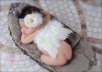 4 стили младенческой фотографии Крылья Ангела набор перо крылья бабочки + цветы оголовье наборы Детские новорожденных фотографии реквизит девушки аксессуары