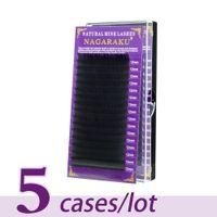 5 Cases / lot Nerz Wimpernverlängerung Individuelle Wimpern Natürliche Wimpern Bilden Gefälschte Falsche Wimpern Augen Make-Up Hohe Qualität