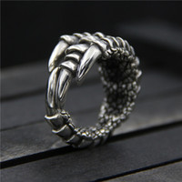 925 sterling silver ring Domineering eagle claw ring Thai si...