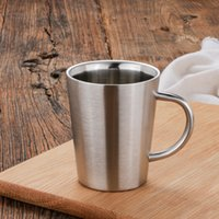 Stainless Steel milk water cups 350 ML double wall insulatio...