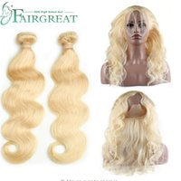 Fairgreat Remy Blonde Color Human Hair Wefts 2 Bundle With 3...